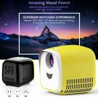 Mini projecteur Portable LED pour Home cinema  ecran HD 1080P  Interface USB HDMI carte TF FKU66