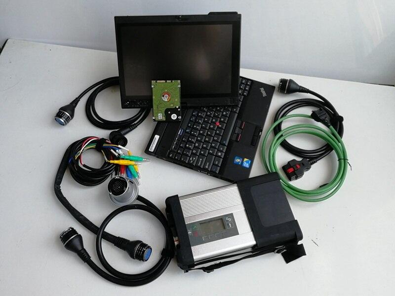 Mb sd c5 estrela diagnóstico com o mais novo software 320gb hdd 2020.09 com portátil x201t i7 4g tela de toque super pronto para trabalhar