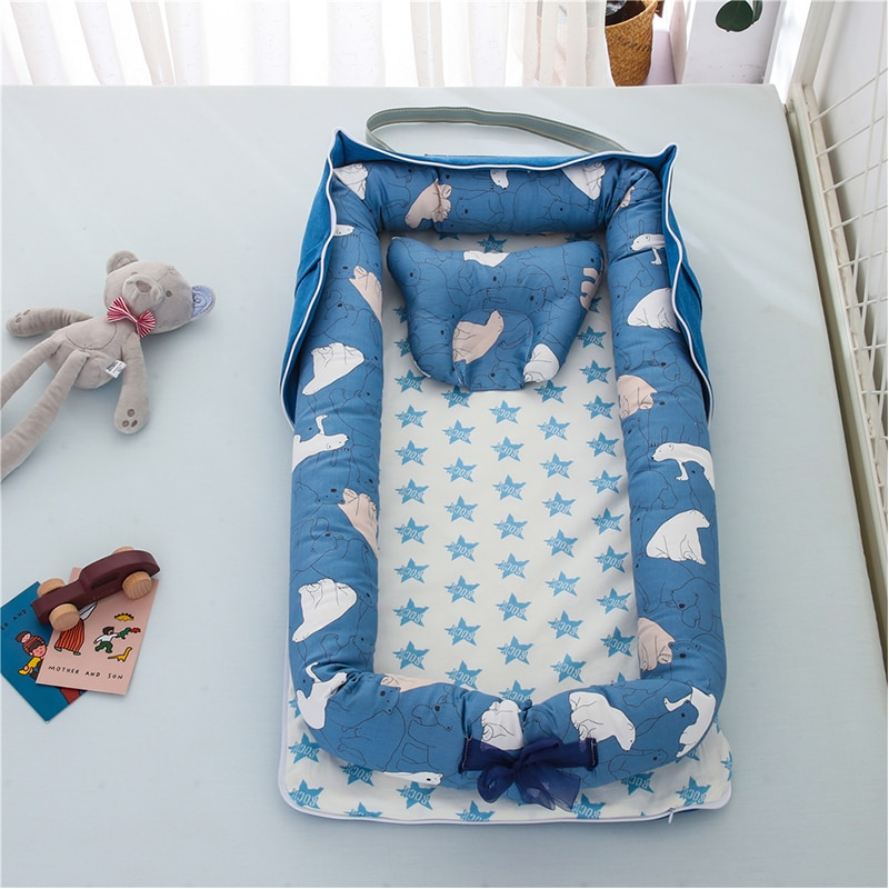 Multi-Function Portable Foldable Travel Sleeping Baby Bed Crib For Baby Nest Bed For Newborns Infant Cribs Breathable Baby Bed
