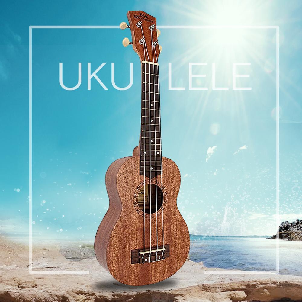 "Zebra 21"" inch 12 Frets Sapele Ukulele Concert Uke Rosewood Fingerboard Knob Guitar Mini Guitarra Music Instrument for Beginners"
