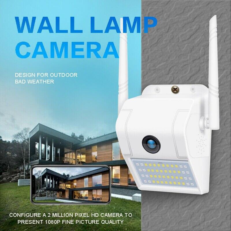 Flutlicht уличная Домашняя безопасность Kamera 1080P 2,4G WiFi Nachtsicht Kamera mit светодиодный датчик движения палочка Licht Kamera Беспроводная