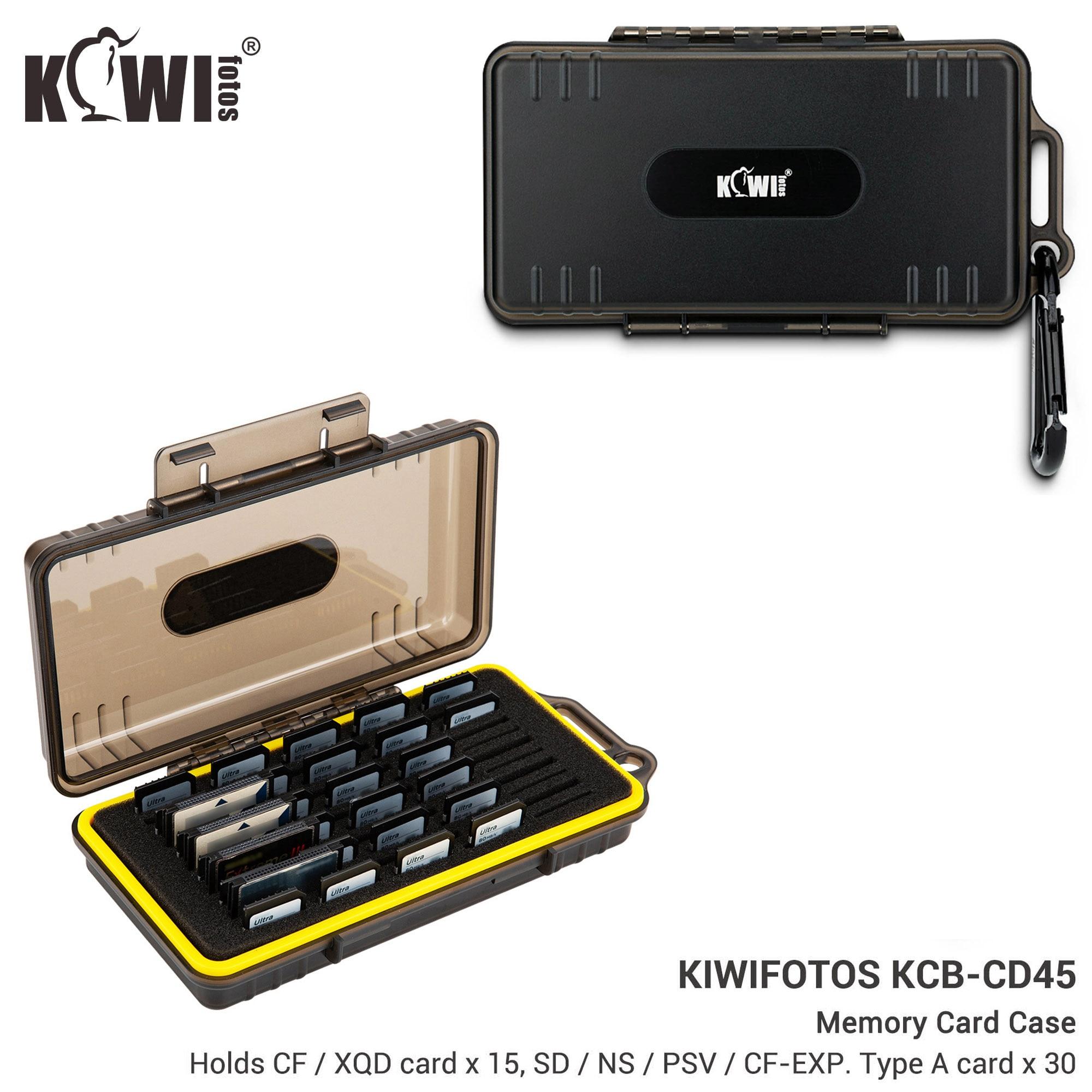 45 Slots Memory Card Case Holder Storage Box for 15 CF / XQD + 30 SD SDXC SDHC / NS / PSV / CF CFexpress Type A Card Organizer
