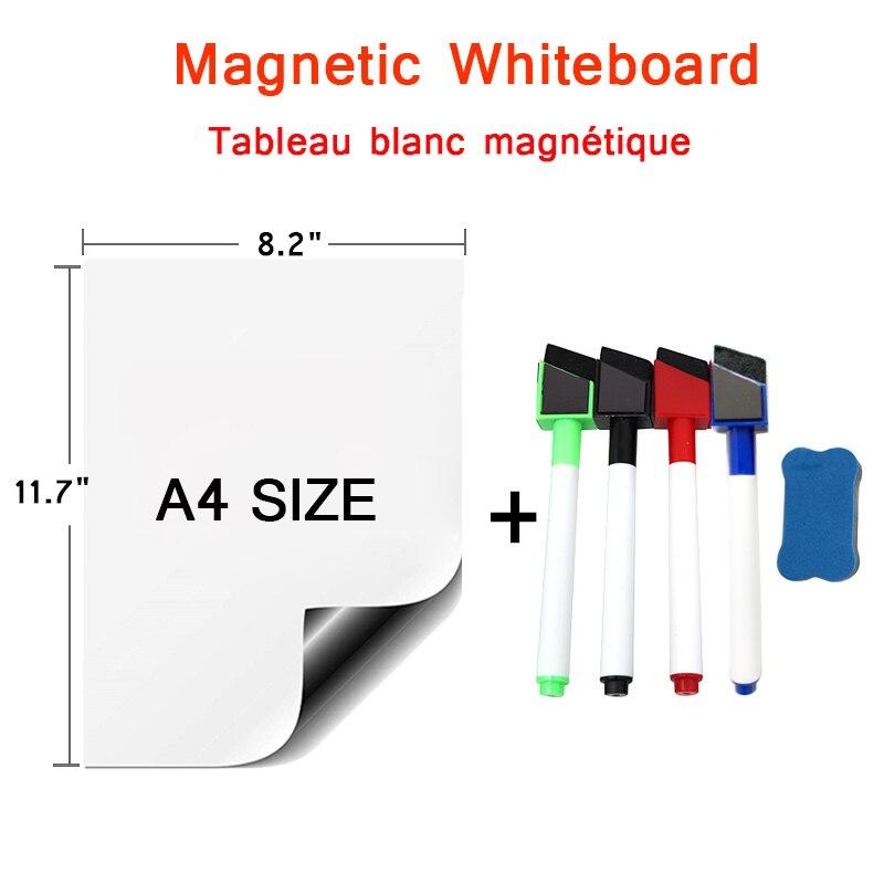 Магнитная доска, наклейка, календарь, планировщик, мягкая белая доска, маркер, ластик для рисования на холодильник, магнитная доска для рисо...