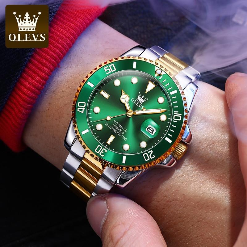 OLEVS Laurie Watch Classic Hercules Green Water Ghost Mechanical Watch Men's Watch Men's Watch enlarge