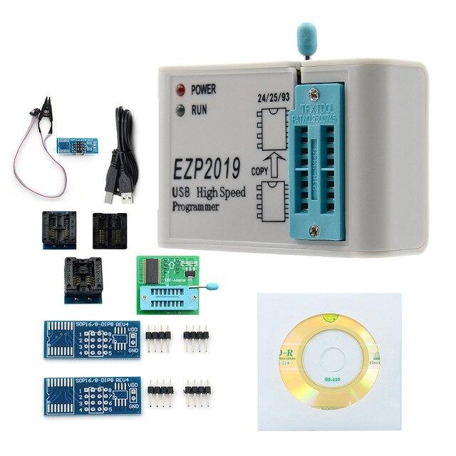 EZP2019 عالية السرعة SPI فلاش مبرمج البرمجة حاليا النسخ المتماثل 24/25/93 bios 25T80