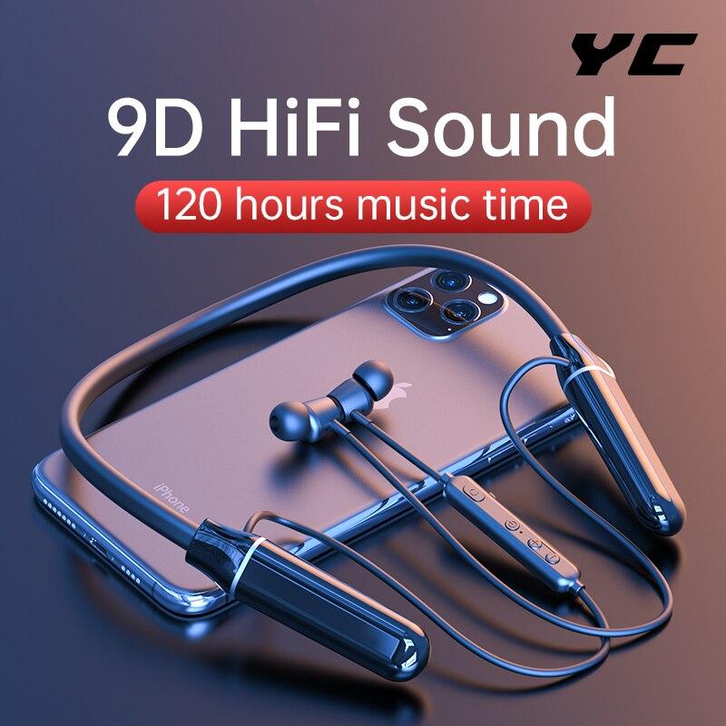 Bluetooth-наушники YC с микрофоном, 120 часов работы