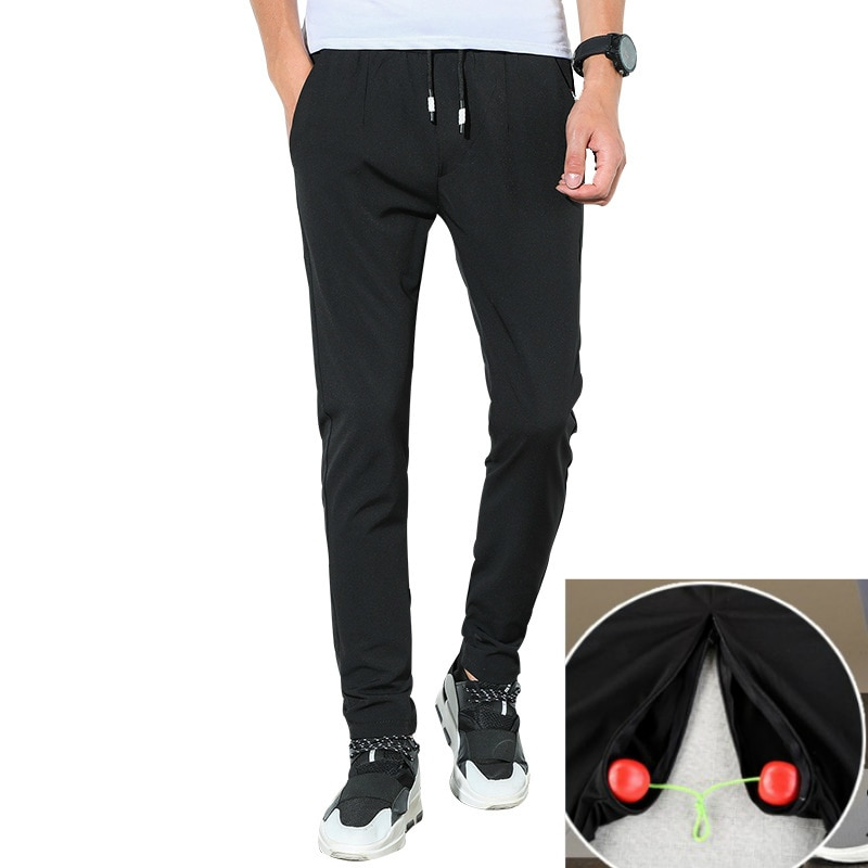 Outdoor Sex Pants Men Slim Hidden Zipper Open Front Back Crotch Sweatpants Outdoor Sex Hosen for Dating Open Kruis Broek