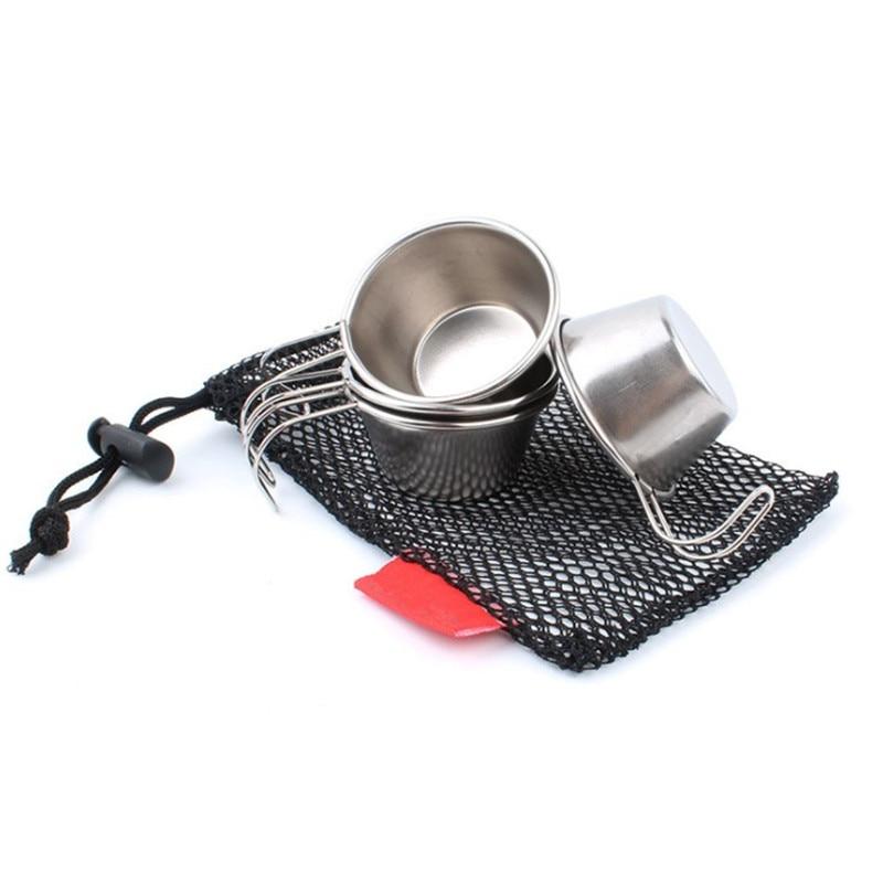 Copos de Tiro Copo com Capa de Couro Barware para Cozinha em Casa Inoxidável Polido Vinho Beber Case Bolsa Barra Aço
