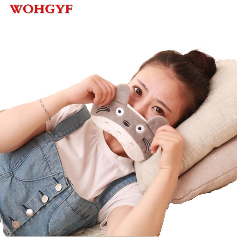 1p lapin/Totoro/renard/masque de sommeil paresseux pendant les vacances voyage, détente, aide au sommeil les yeux bandés cache glace patch pour les yeux masque de sommeil cov
