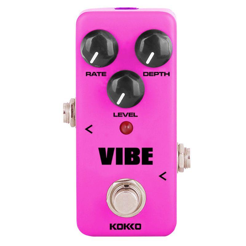 Mini Pedal de guitarra con efecto eléctrico FUV2, altavoz con efecto Vibe, procesador de sonido 448C