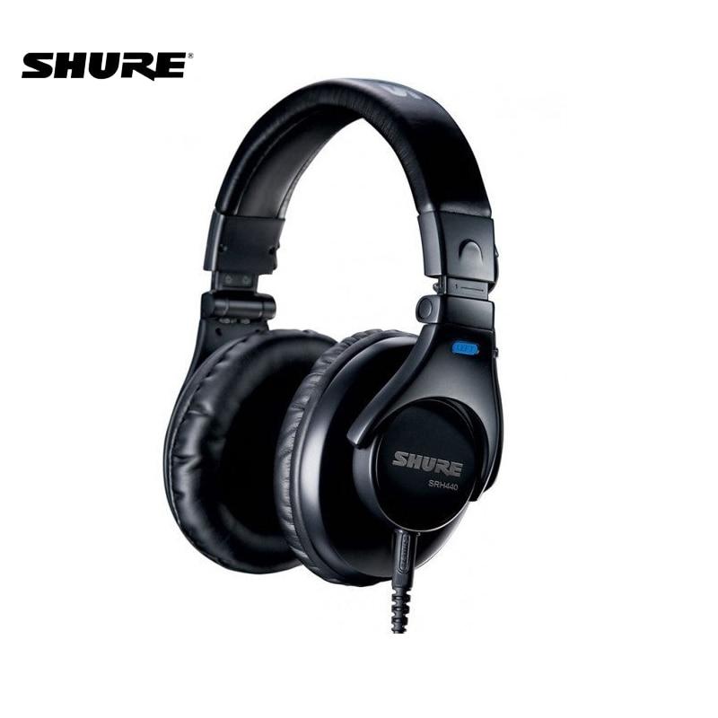 Shure-سماعات رأس سلكية احترافية ، SRH440 ، سماعات أذن ديناميكية فوق الأذن ، قابلة للطي ، SRH440