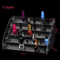 5 layers acrylic nail polish organizer essential oil storage clear makeup box manicure cosmetics jewelry display stand holder