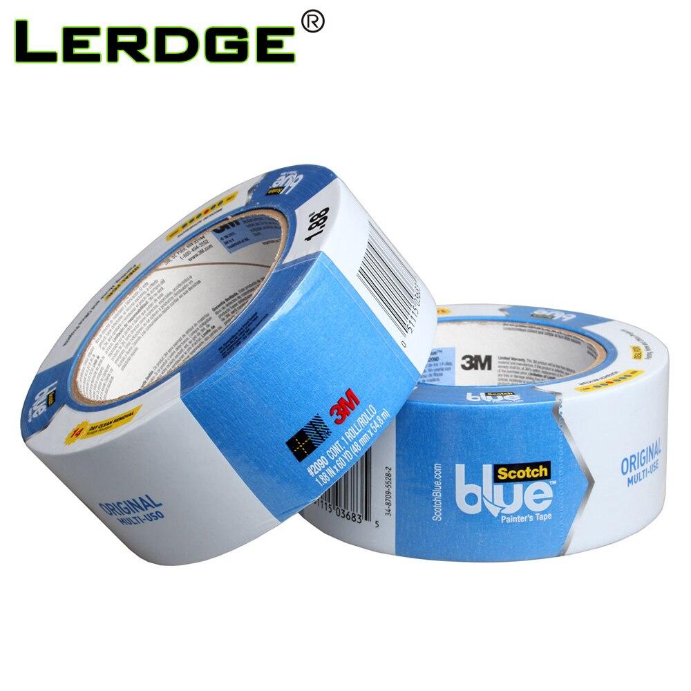 LERDGE-أجزاء طابعة ثلاثية الأبعاد ، شريط لاصق بوليميد أزرق ، شريط تسخين ، مقاوم لدرجة الحرارة العالية