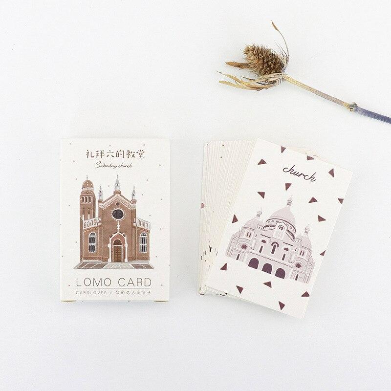 28 Sheets/Set Saturday's Church Mini Lomo Postcard /Greeting Card/Birthday Letter Envelope Gift Card Message Card