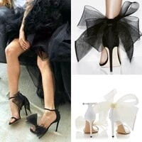 a word with high heels 2020 new banquet sexy wild bow sandals womens fine heel