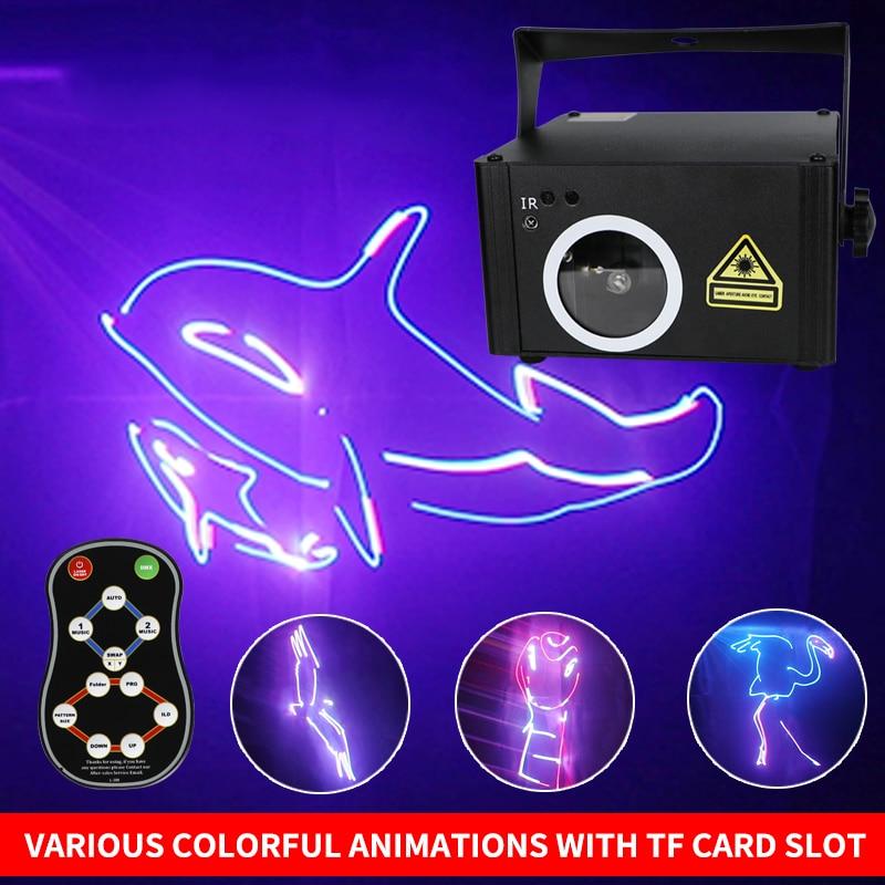 DMX512 RGB SD программная карта, лазерный прожектор со сканированием светильник, DJ диско шоу, сценический эффект светильник щение с дистанционны...