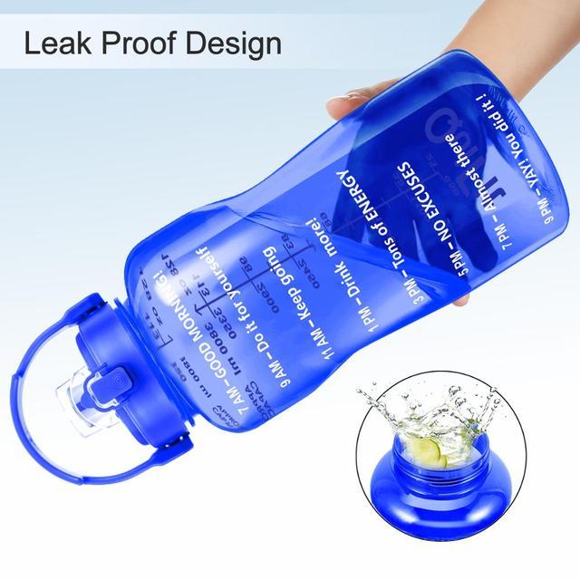 QuiFit 2L 3.8L Tritan Gallon Water Bottle Smartphone Stand With Flip-Flop BPA Free Bottles Portable Sports Mobile Holder GYM Jug 6