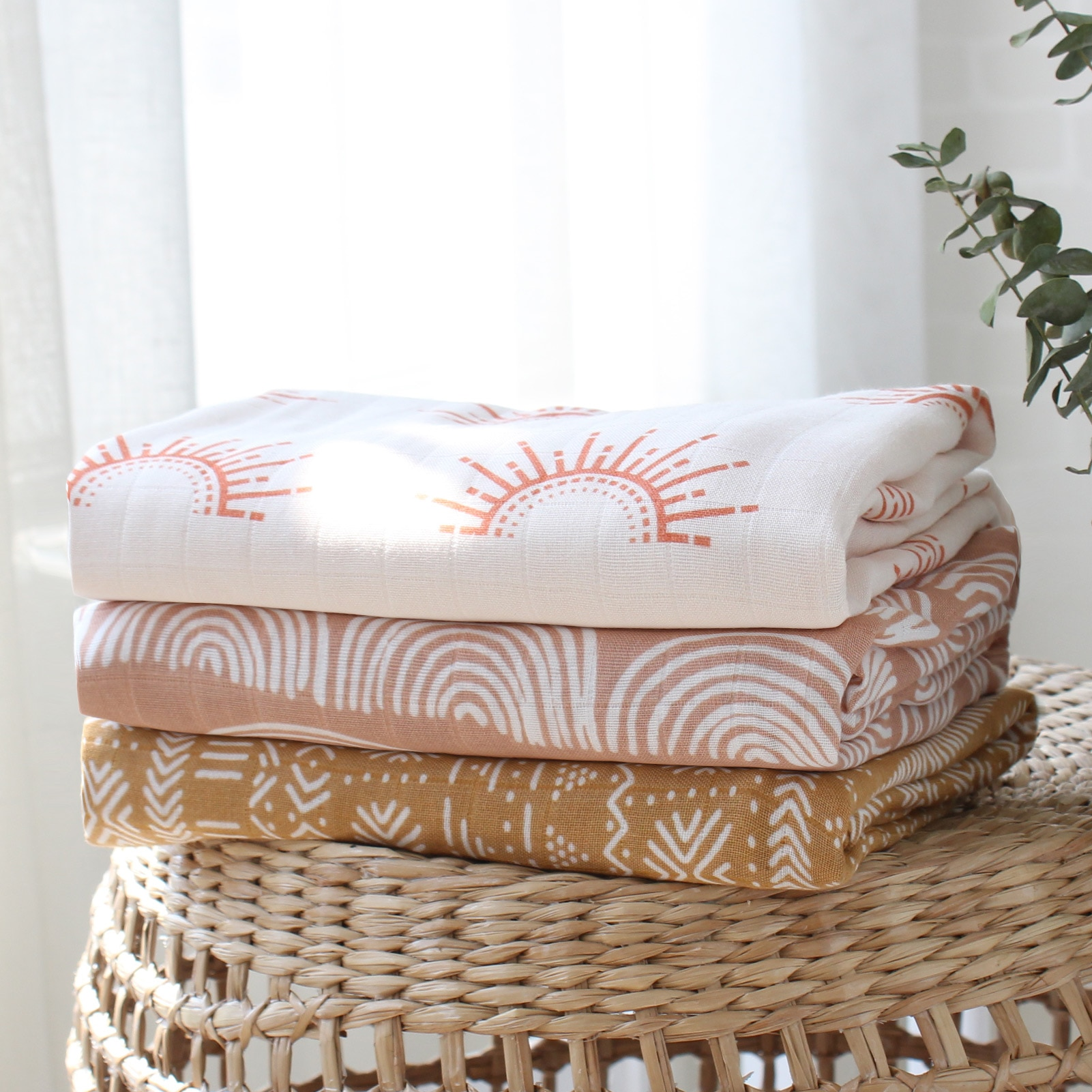 Bamboo Cotton Soft Baby Blankets Newborn Muslin Swaddle Blanket for Newborn Girl and Boy Baby Bath Towel