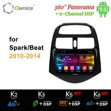 Ownice K3 K5 K6 360 Panorama Car DVD GPS Naviga Player Car Stereo For CHEVROLET Spark Beat 2010 2011 2012 - 2014 Radio Headunit