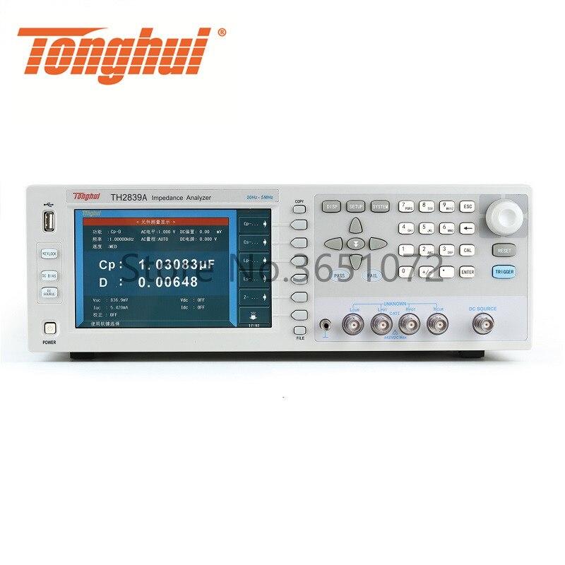 TH2839A 20Hz-5MHz impedancia de medidor LCR Digital medidor de resistencia