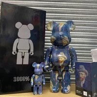 bearbricklys 70cm 1000 van gogh self portrait pvc action figures blocks bear dolls decoration model friend toys christmas gifts