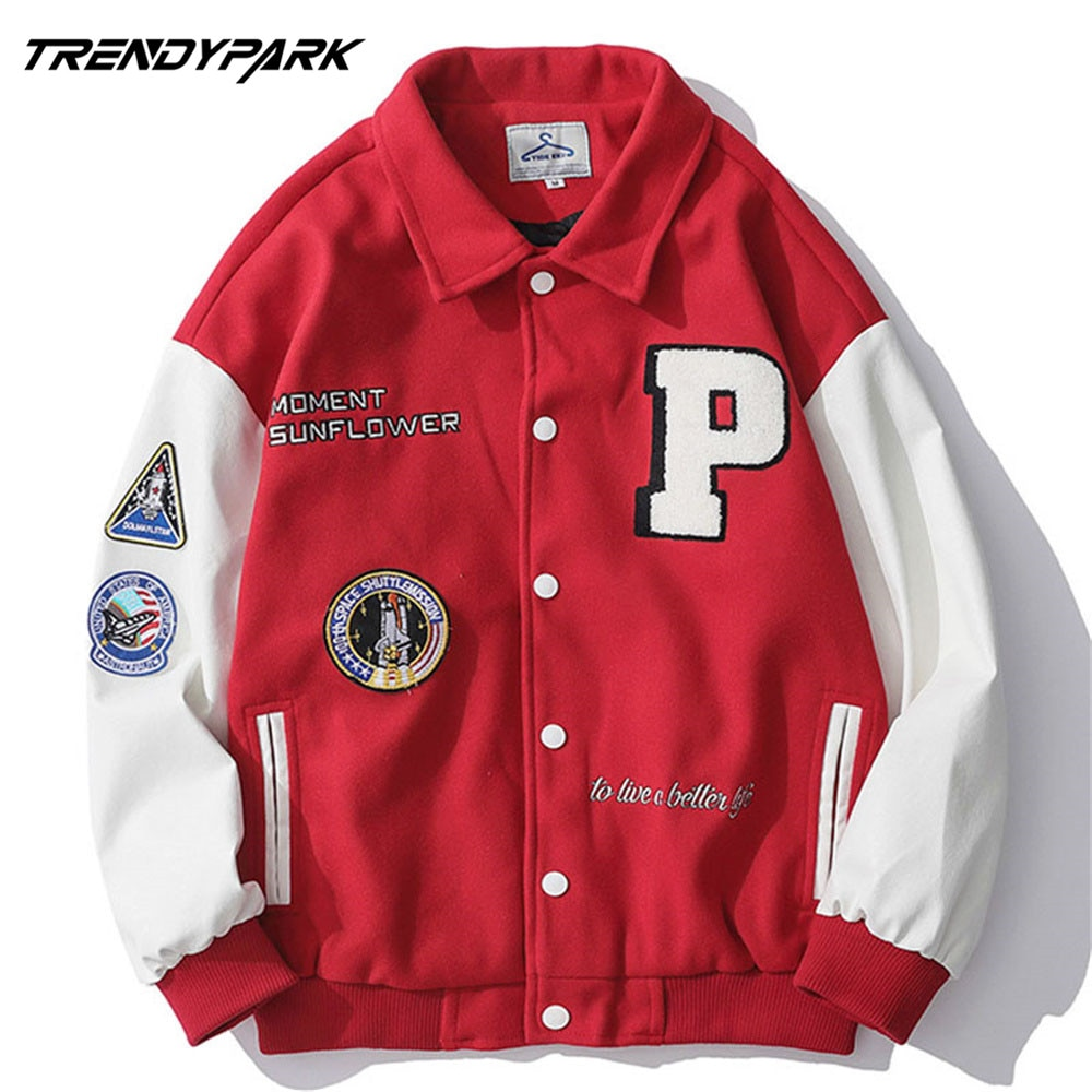 AliExpress - 2020 New Arrival Brand Patchwork Single Breasted Appliques Bomber Jacket Men Embroidery Fashion Baseball Uniform Casual Coat