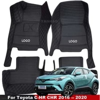 car mats for toyota c hr chr 2016 2017 2018 2019 2020 leather mats auto interior carpets right hand drive car floor mats
