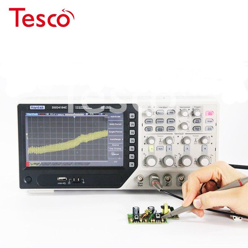 Oscilloscope numérique Hantek DSO4254C 4 canaux 250Mhz bande passante LCD PC Oscilloscopes USB portables 1GS/s taux déchantillonnage