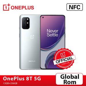 Глобальная прошивка OnePlus 8 T 8 T Snapdragon 865 5G смартфон 12 Гб 256 120 Гц жидкости Дисплей 48MP Quad камеры 65 Вт Warp заряда 4500 мАч