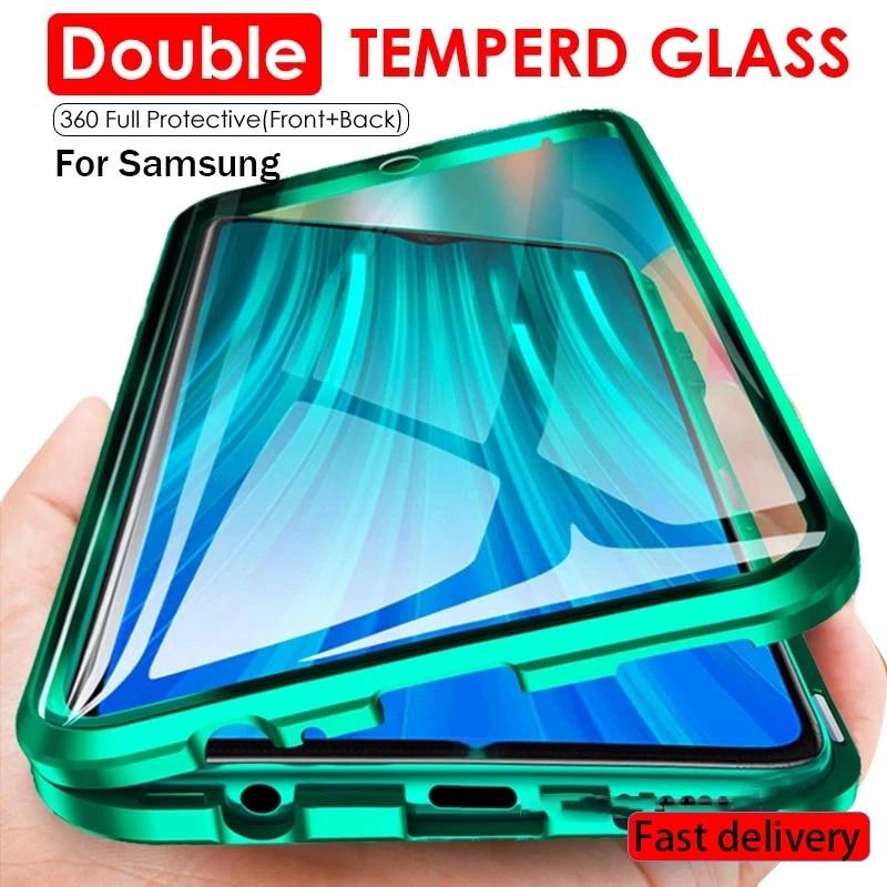 360 Volledige Bescherming Magnetische Beschermhoes Voor Samsung S10 S20 S8 S9 Plus A71 A70 A50 A51 A31 Note 10 20 8 9 Plus Uitra Lite