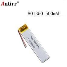3.7 V 801350 081350 500mah avec panneau de protection utilisé pour bluetooth MP3 MP4 batterie au lithium