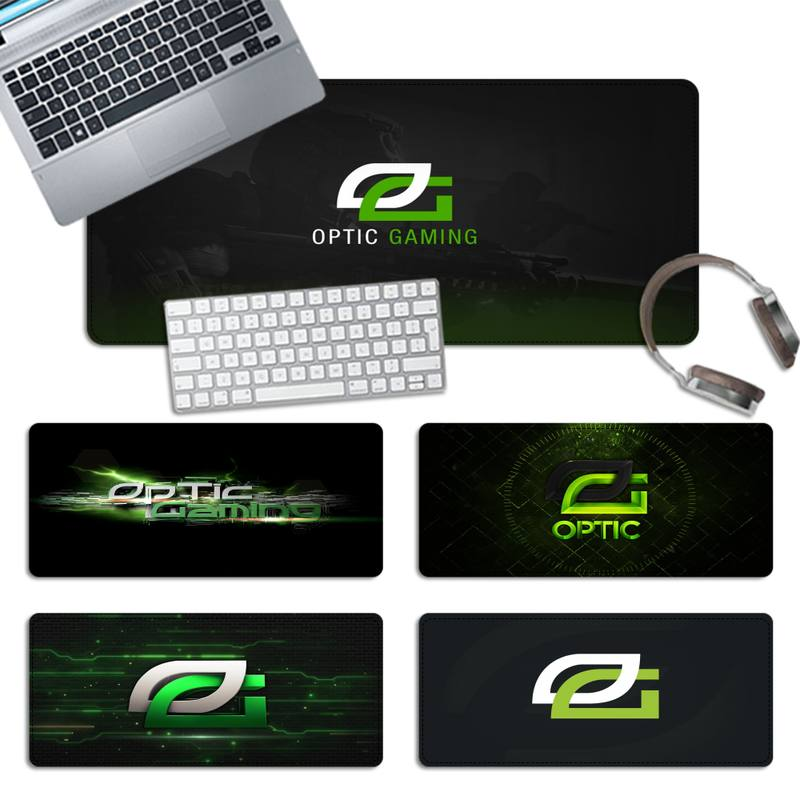 victsing gaming mouse pad antislip rubber ergonomic mouse pad water resistant premium textured mat for gamer with stitched edges Rubber OpTic Gaming logo Gaming Mouse Pad PC Laptop Gamer Mousepad Anime Antislip Mat Keyboard Desk Mat For Overwatch/CS GO