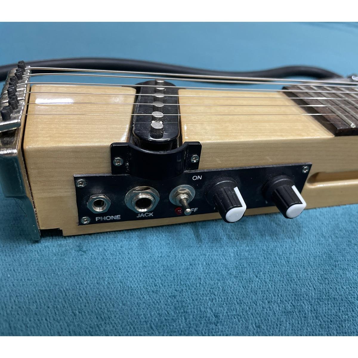 Portable Veneer Guitar Practice Neck Electric Guitar Chord Fingering Trainer Mute Guitar For Beginner Travel Guitar enlarge