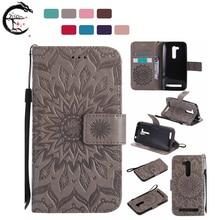 Flip Case For Asus Zenfone Go ZB452KG X014D Cover Phone Leather Lanyard Cases ZB452 KG Wallet Holder Shell Magnetic Card Casing