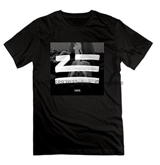 Camiseta de manga curta zhu masculino desbotado o cartaz da noite