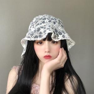 Women Hat Bucket Hat Fishing Hats for Women Fashion Flower Lace fisherman hat Fisherman Hat Designer Hat Sun Mushroom Hat Kpop