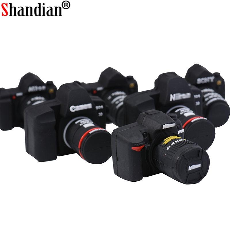 SHANDIAN hot selling Camera Shape USB Flash Memory Stick thumb drive 64GB/32GB /16GB memory stick flash card photography gifts