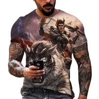 2021 new fashion cool t shirt for men%e2%80%99s 3d t shirt printing lion short sleeve summer shirt printing t shirt