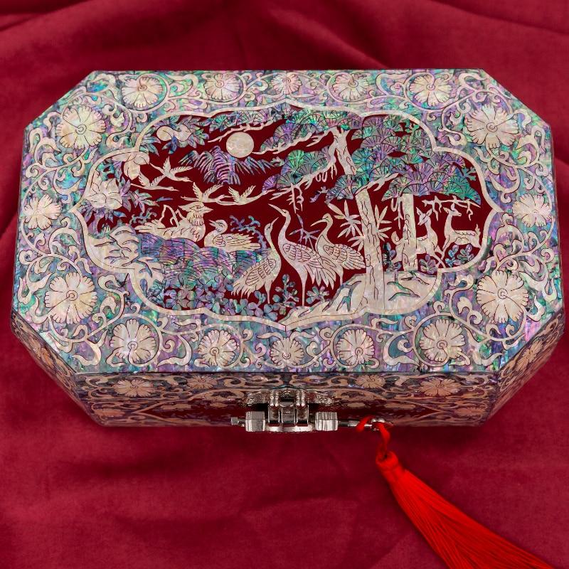 Inlay jewelry box,Jewelry display storage box,Jewelry Organizer,Home gift,Chinese traditional handicraft enlarge