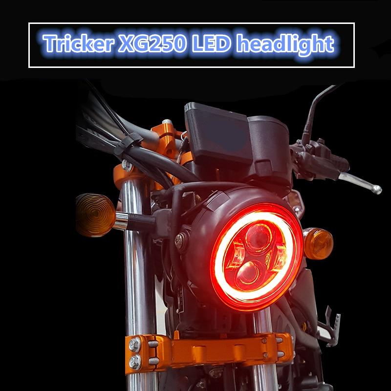 Подходит для Yamaha Tricker/Magician XG250 модифицированные светодиодные фары с ежедневными ходовыми огнями функция осветительной системы налобный фон... передние фары ксеноновые со встроенными дневными ходовыми огнями chn для haval h2 хавал н2 2014 2019