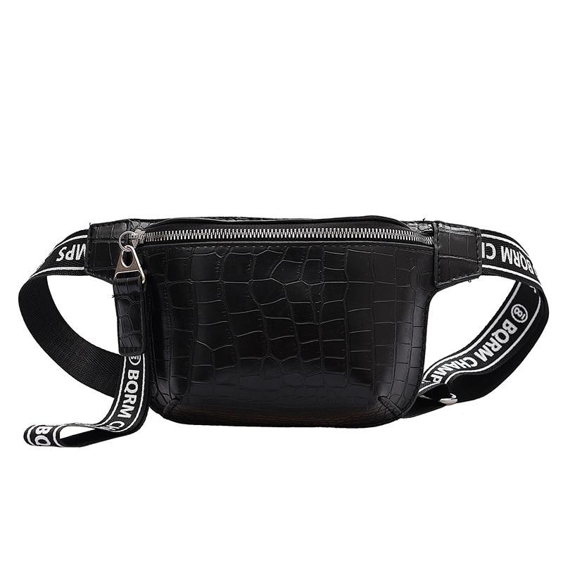 Bolsos para señora 2020 Popular bolso de pecho con letras de cinta de Bolso de nuevo estilo bolso de moda con patrón de cocodrilo con carácter bolso para correr