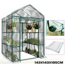 3-Tier غطاء مقاوم للماء الدفيئة مقاومة للتآكل النباتات Warmhouse الطبقة المنزلية مصنع سقف الجرف غطاء السقيفة لا الحديد الرف