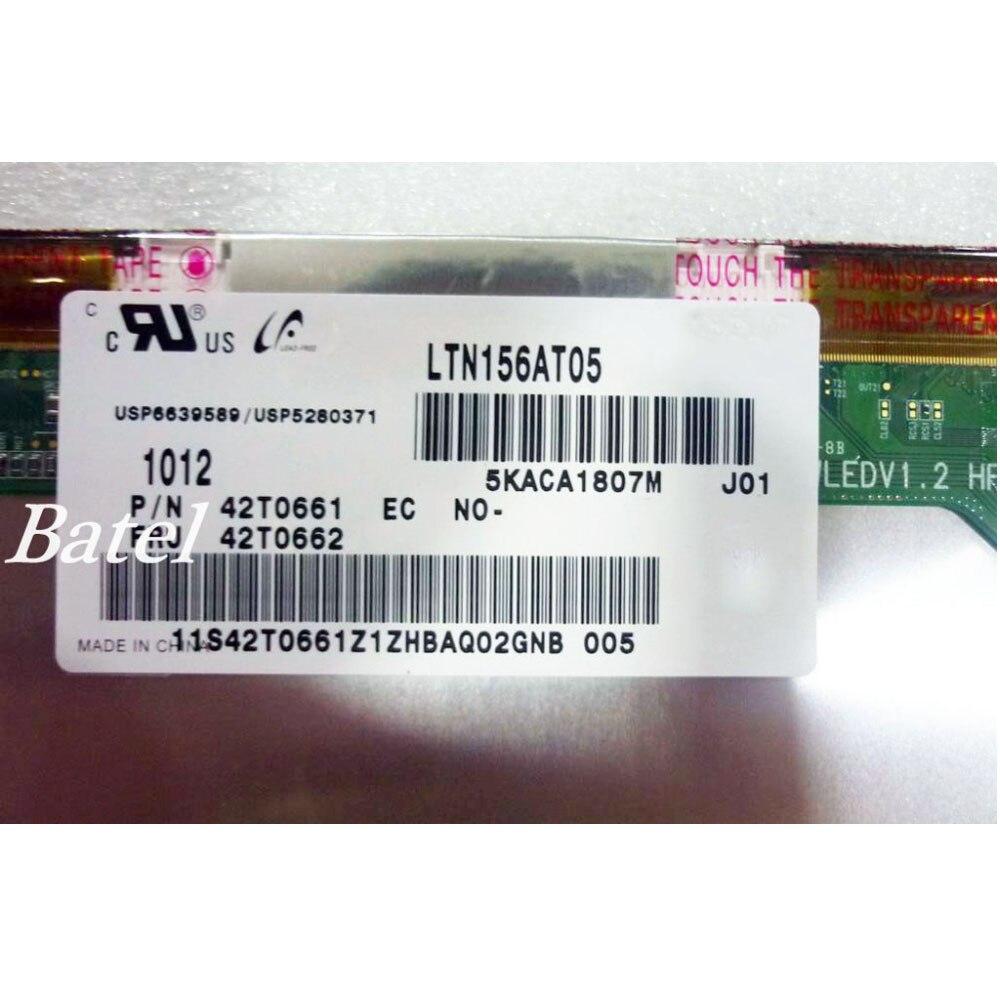 "Panel Monitor LTN156AT05-J01 LTN156AT05 pantalla LED LCD matriz de pantalla para ordenador portátil 15,6 ""1366X768 HD 40Pin reemplazo brillante"