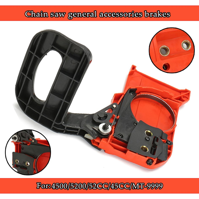 clutch sprocket side cover brake handle assembly for husqvarna 55 51 50 55 rancher chainsaw spare parts Brake Handle Chain Saw Clutch Sprocket Cover Assembly Suitable  Chainsaw 4500 5200 45CC 52CC