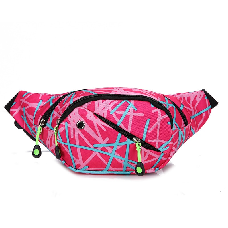 Fashion Leisure   Unisex  Casual  Pillow  Fanny Pack Slant Nylon Waist Bag for Man Women