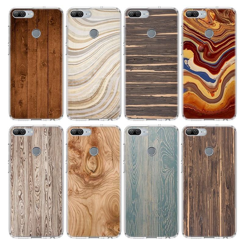 Grano de madera textura abstracta funda para Huawei Honor 10 9 20 Lite 9X 8X 8A Pro 7A 7X Y5 Y6 Y7 Y9 2019 V20 V30 suave de la cubierta del teléfono de Coqu