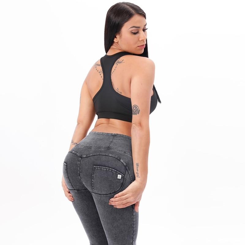 Melody Grey High Waist Zipper Fly Jeans Jeggings