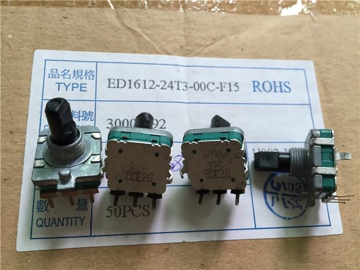 EC16 التشفير الجهد مقبض مع موضوع طول 15 مللي متر لا خطوة ED1612-24T3-00C-F15 التبديل