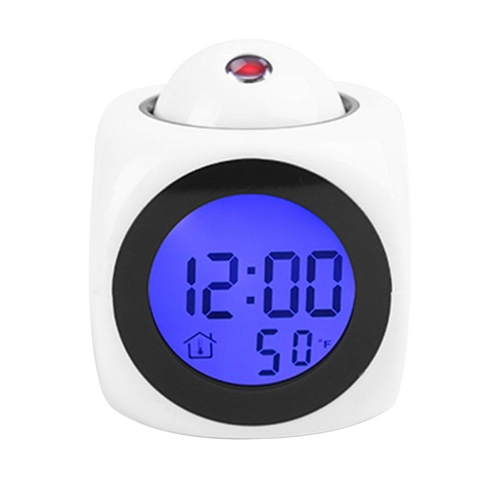Novedad de 2018 en proyección, Despertador con alarma parlante LCD, retroiluminación, proyector Digital electrónico, reloj de escritorio, pantalla de temperatura