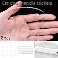 8pcs car silicone door handle protection sticker for byd qin 100 ev tang dm 100 song dm max ev yuan ev e5 e6 si rui su rui s7